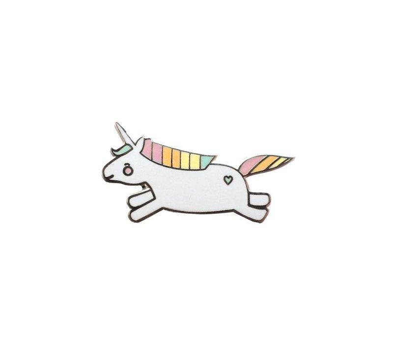 animal pin - hopping unicorn