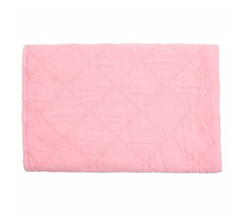 quilt alma - coral pink 80x100