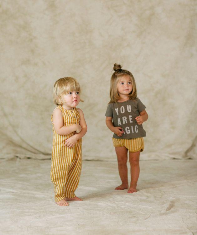 pinstripe track shorts - mustard-2