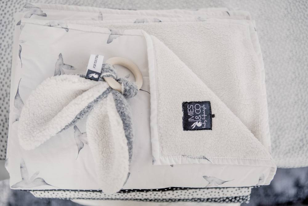 baby soft teddy deken - little dreams offwhite-3