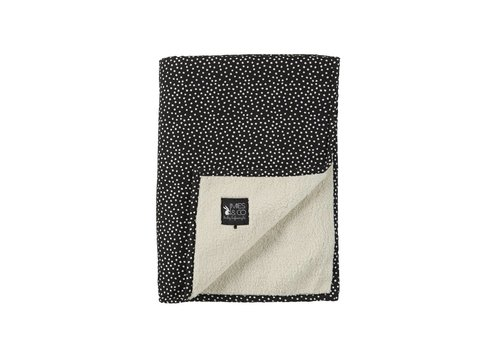 Mies & Co baby soft teddy deken - cozy dots black 70x100