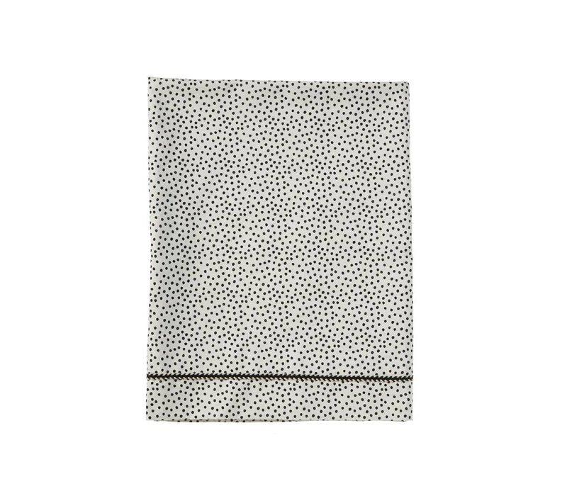 wieglaken - cozy dots offwhite