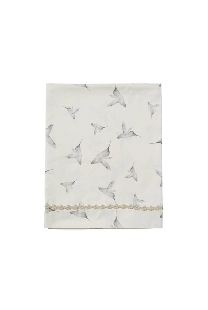 ledikant laken - little dreams offwhite 110x140