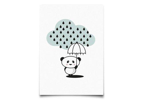 Eef Lillemor panda in the rain - kaart
