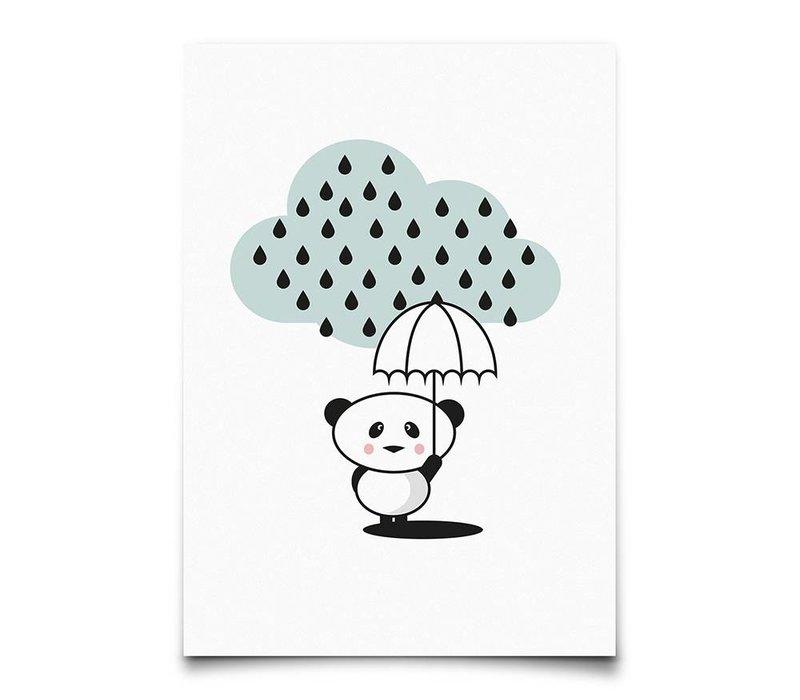 panda in the rain - kaart