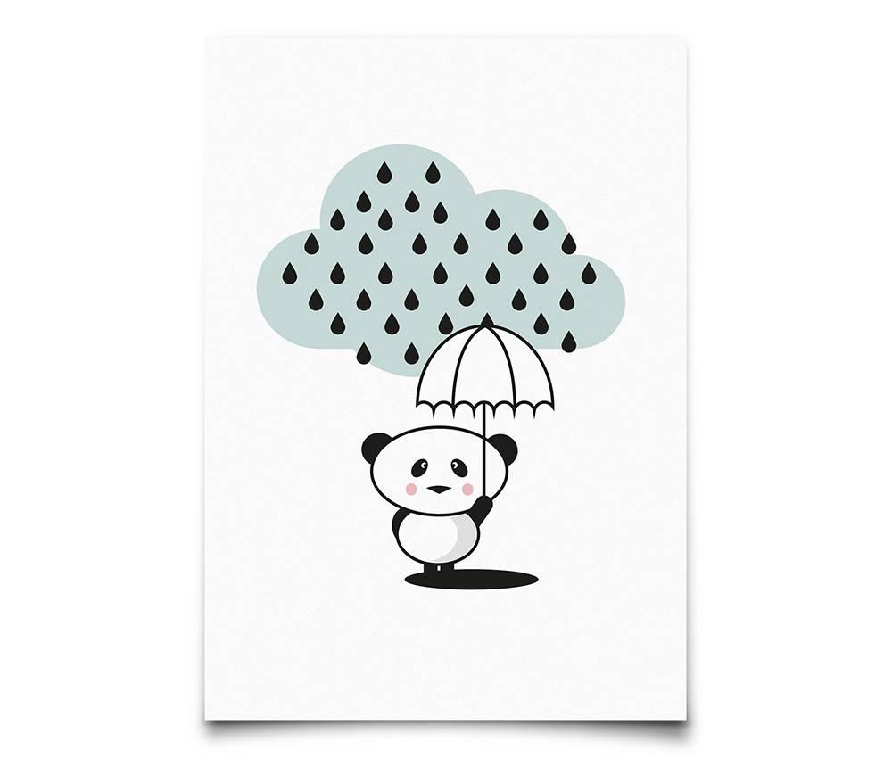 panda in the rain - kaart-1