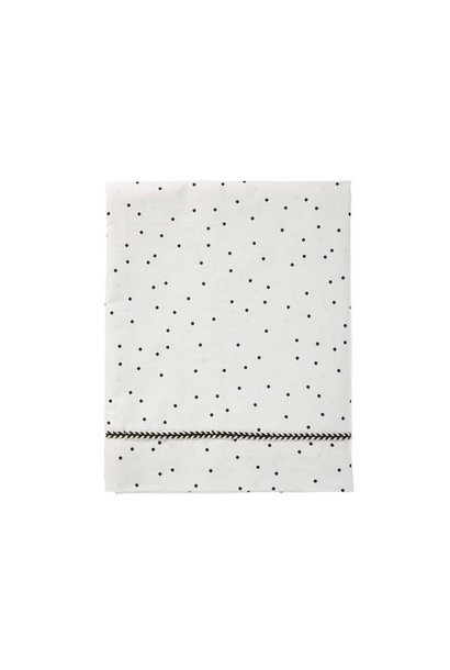 wieglaken baby - adorable dots offwhite 80x100
