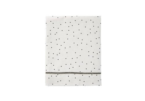 Mies & Co wieglaken baby - adorable dots offwhite 80x100