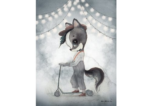 Mrs Mighetto 2- pack carousel/mr william - 18x24