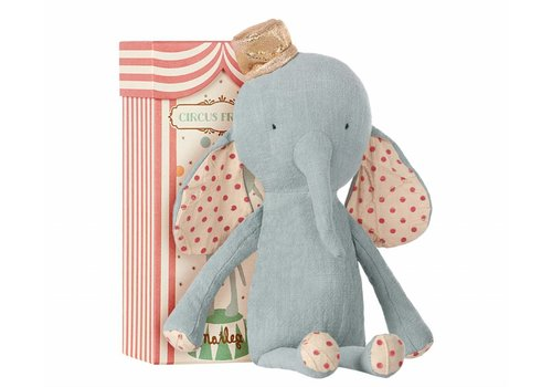Maileg circus friends elephant with hat - blue