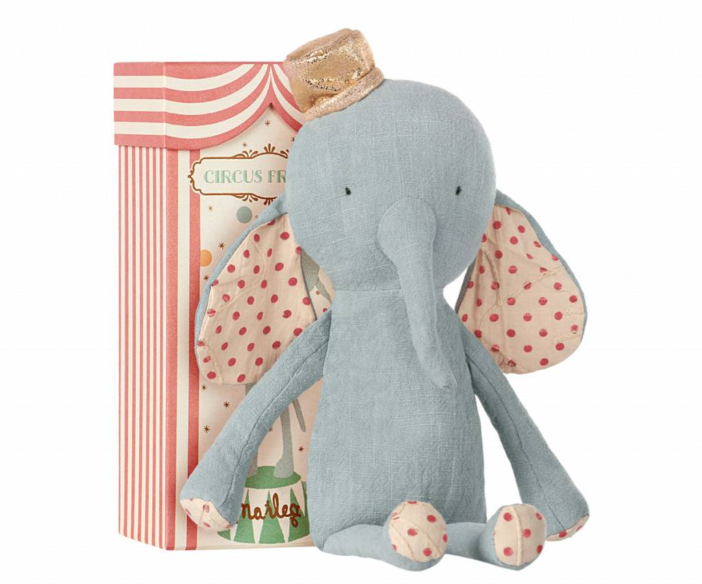 circus friends elephant with hat - blue-1