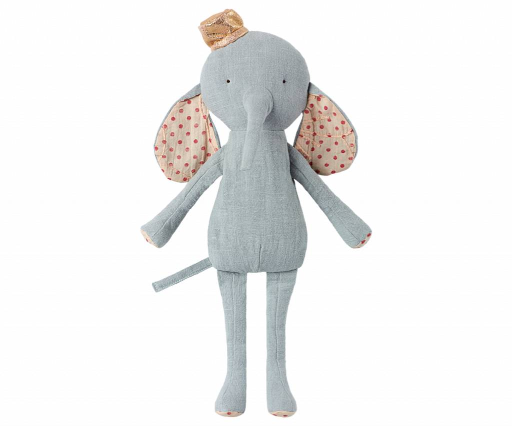 circus friends elephant with hat - blue-2