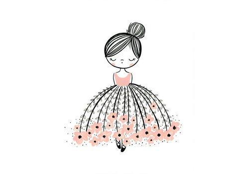 Cassie Loizeaux flower dress dreamer print
