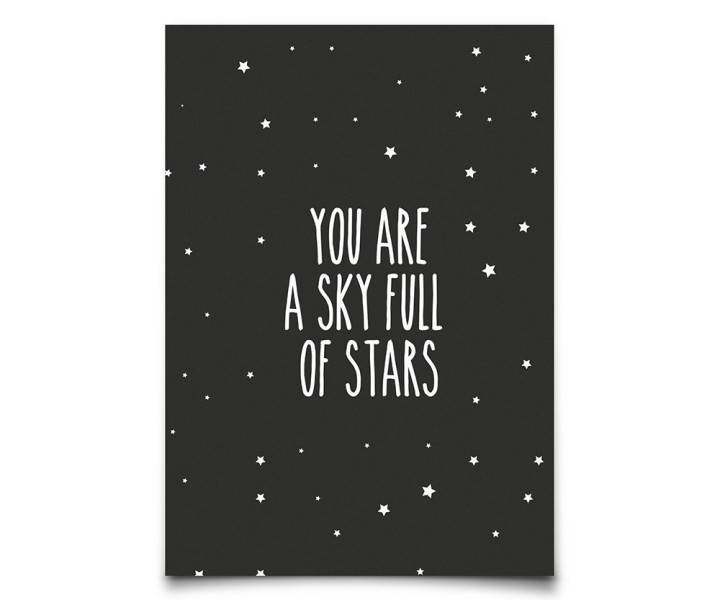 Kaart : You are a sky full of ..-1