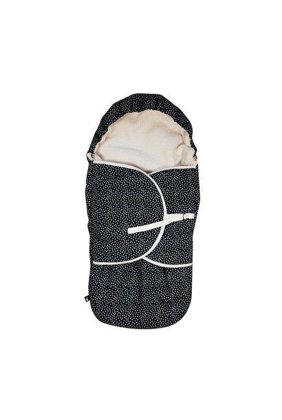 voetenzak cozy dots - zwart