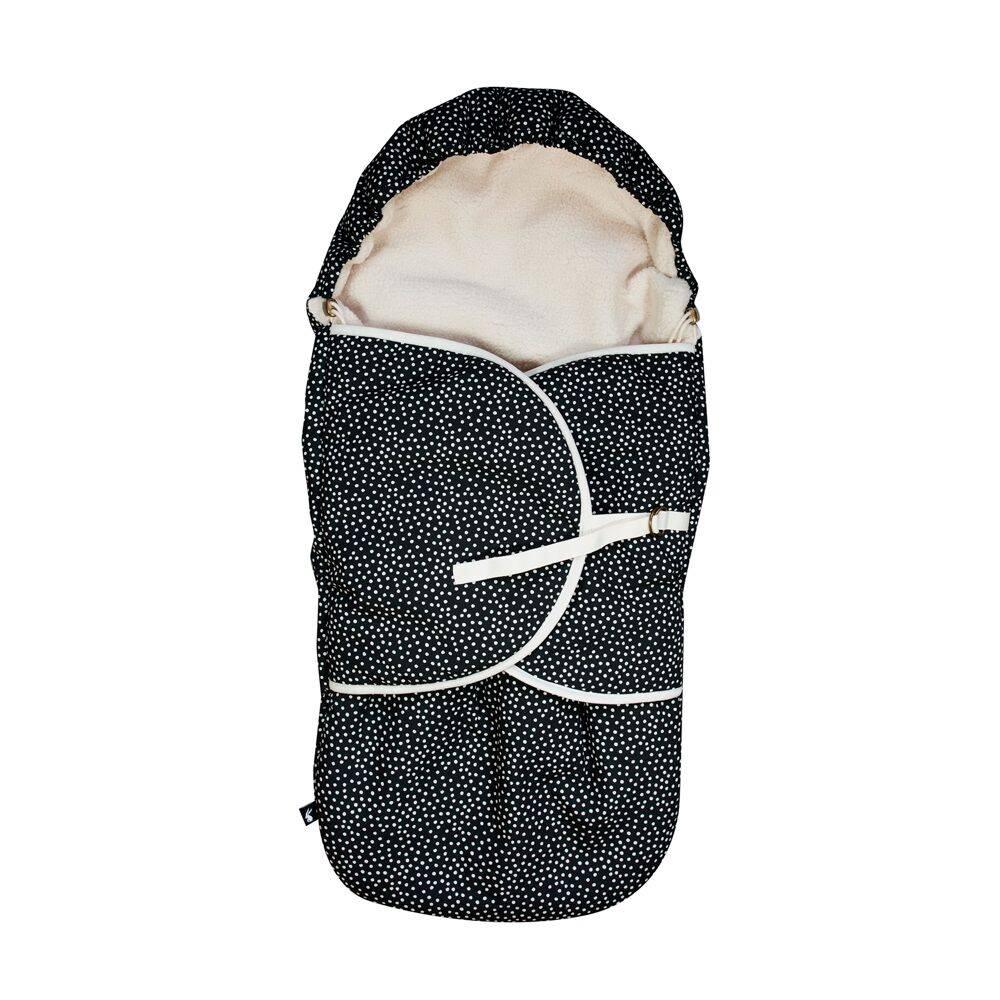 voetenzak cozy dots - zwart-1