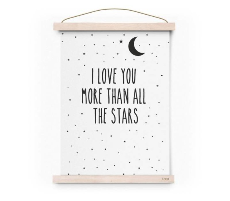 Poster I love you more than all...