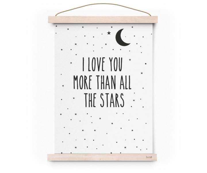 Poster I love you more than all...-1