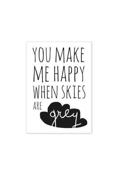 Postcard You make me happy...