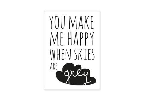 Paqhuis Postcard You make me happy...