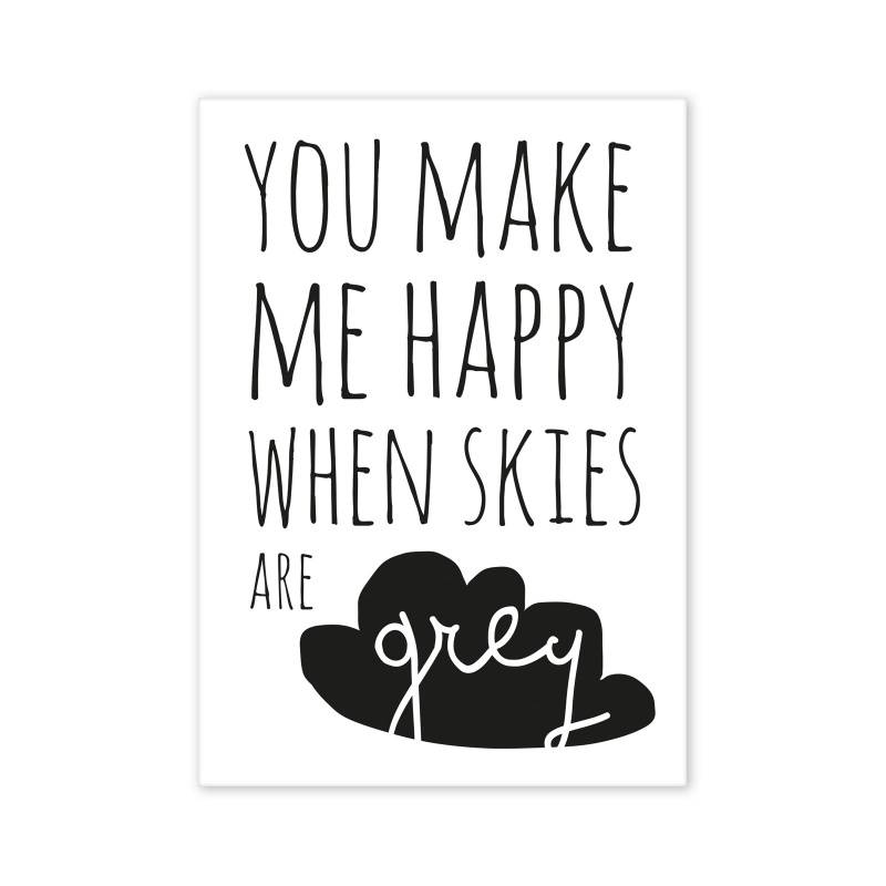 Postcard You make me happy...-1