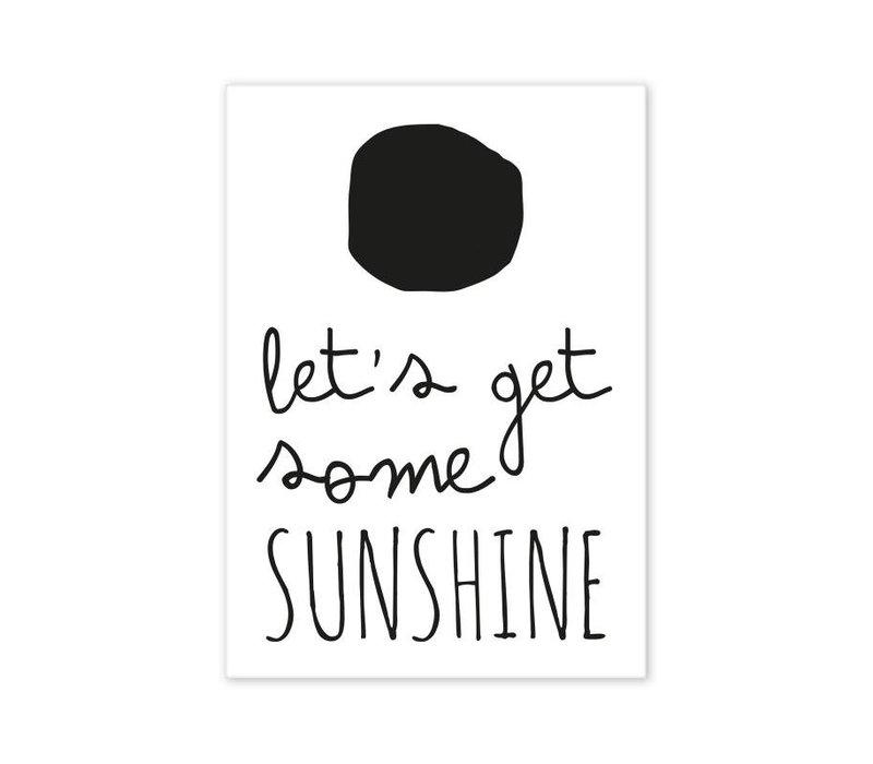 Postcard Let's get some Sunshine