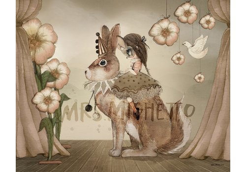 Mrs Mighetto miss poppy - 50x40