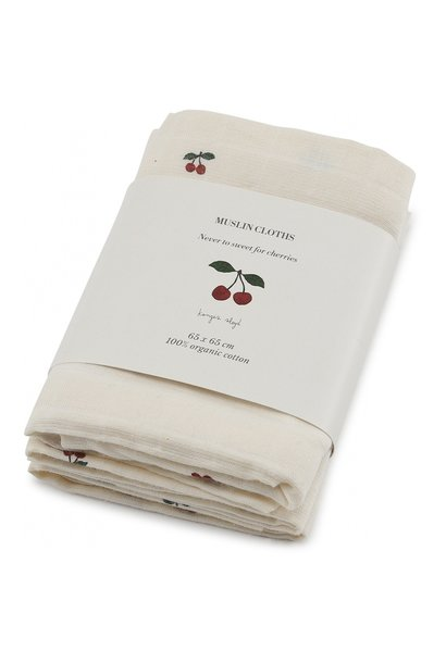 3 pak - hydrofiele doeken - kersen