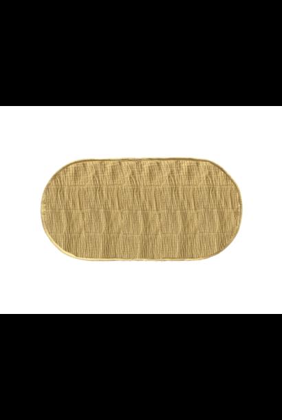 luxe katoenen inleg voor mand - mosterd