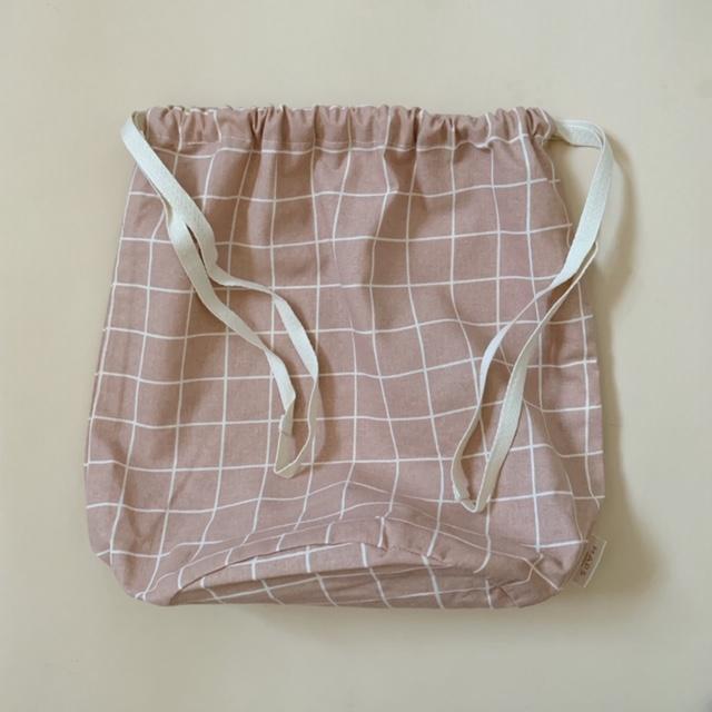 multibag big –  blush grid-1