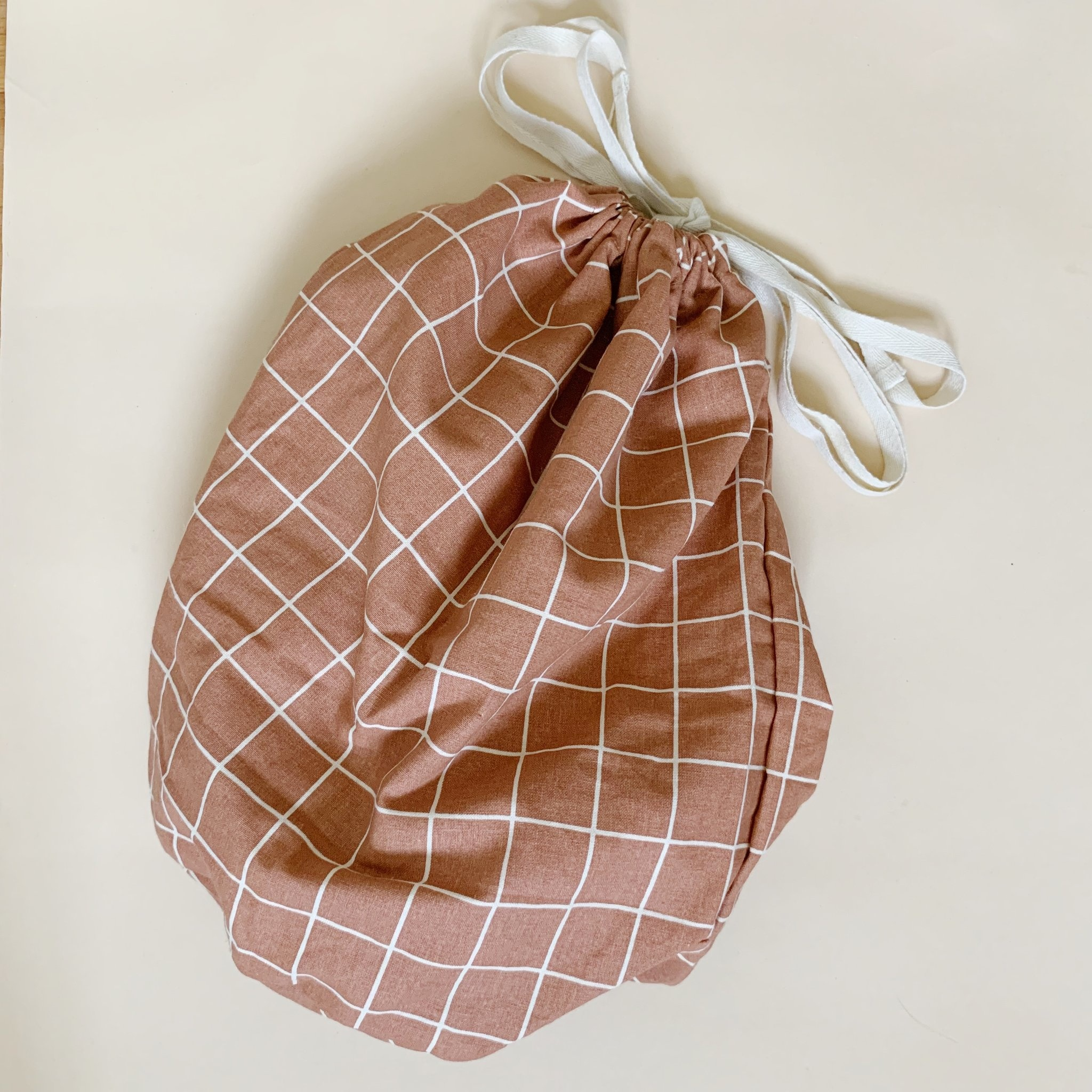 multibag big – terracotta grid-1