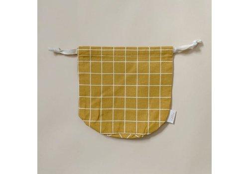 Haps Nordic  multibag small – mustard grid