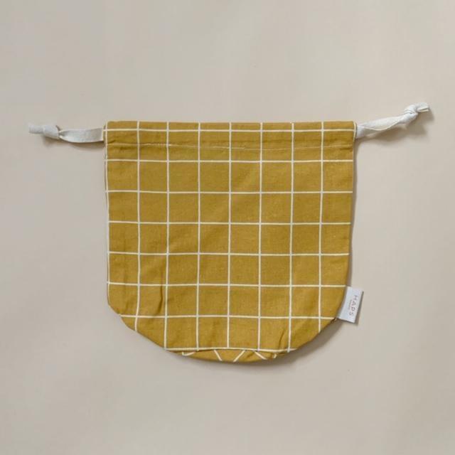 multibag small – mustard grid-1