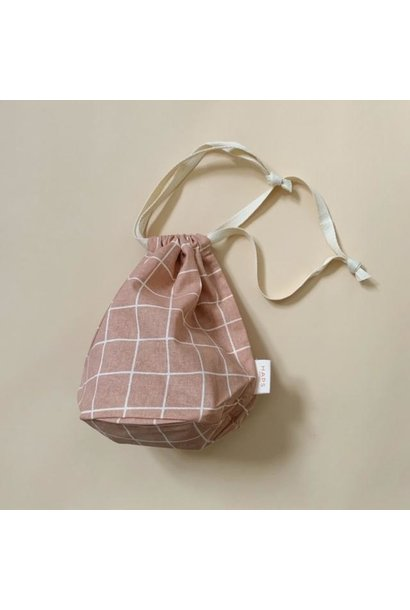 multibag small – blush grid