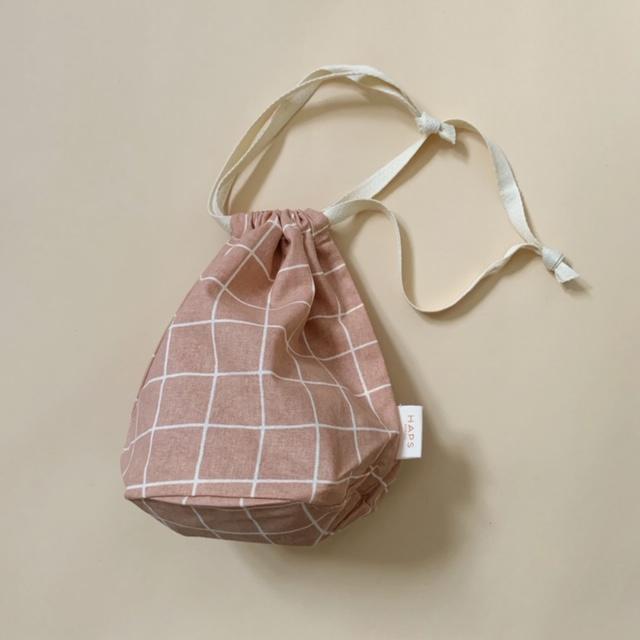 multibag small – blush grid-1