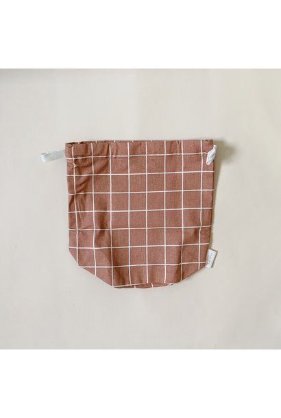 multibag small – terracotta grid