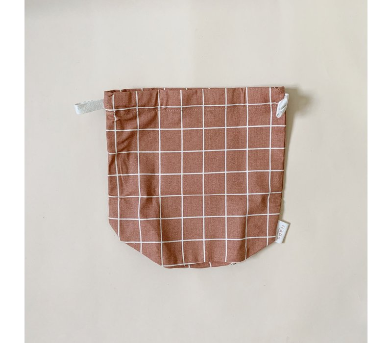 multibag small – terracotta grid