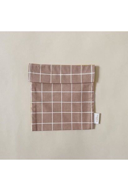 sandwich bag– blush grid