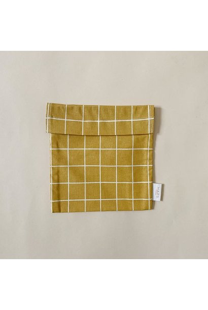 sandwich bag– mustard grid