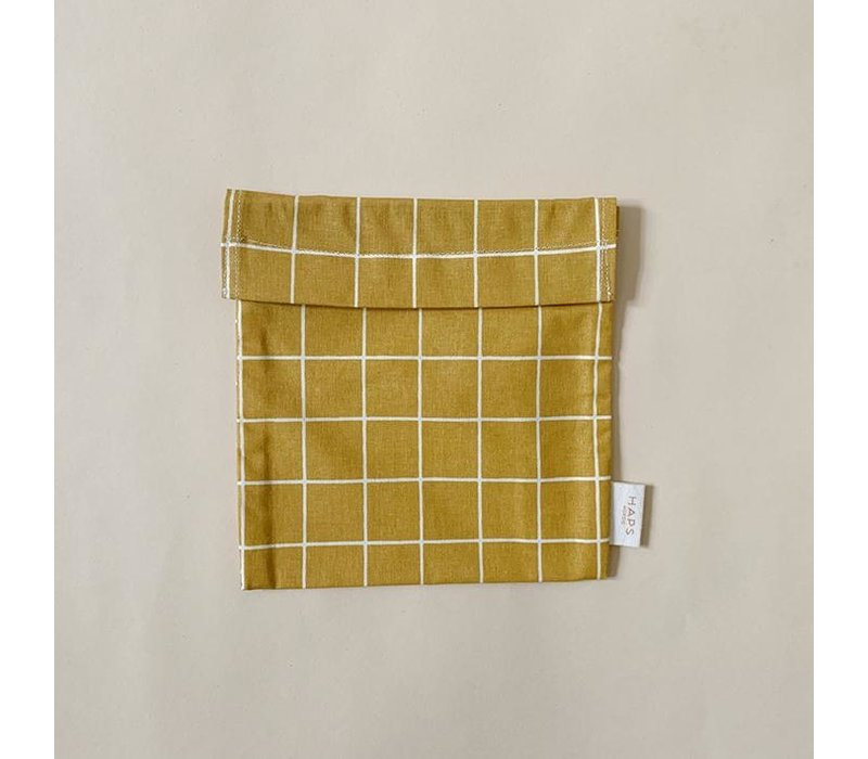 sandwich bag– mustard grid