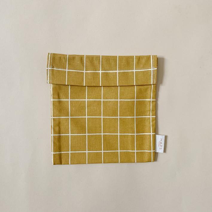 sandwich bag– mustard grid-1