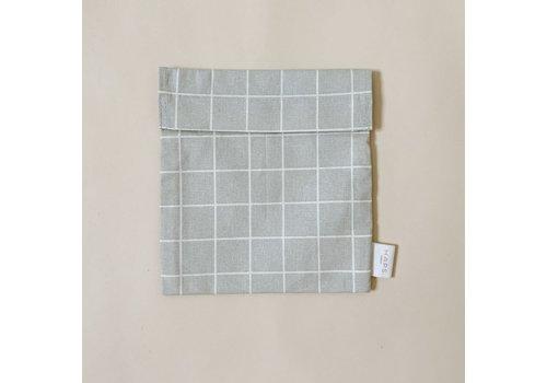 Haps Nordic  sandwich bag– grey grid