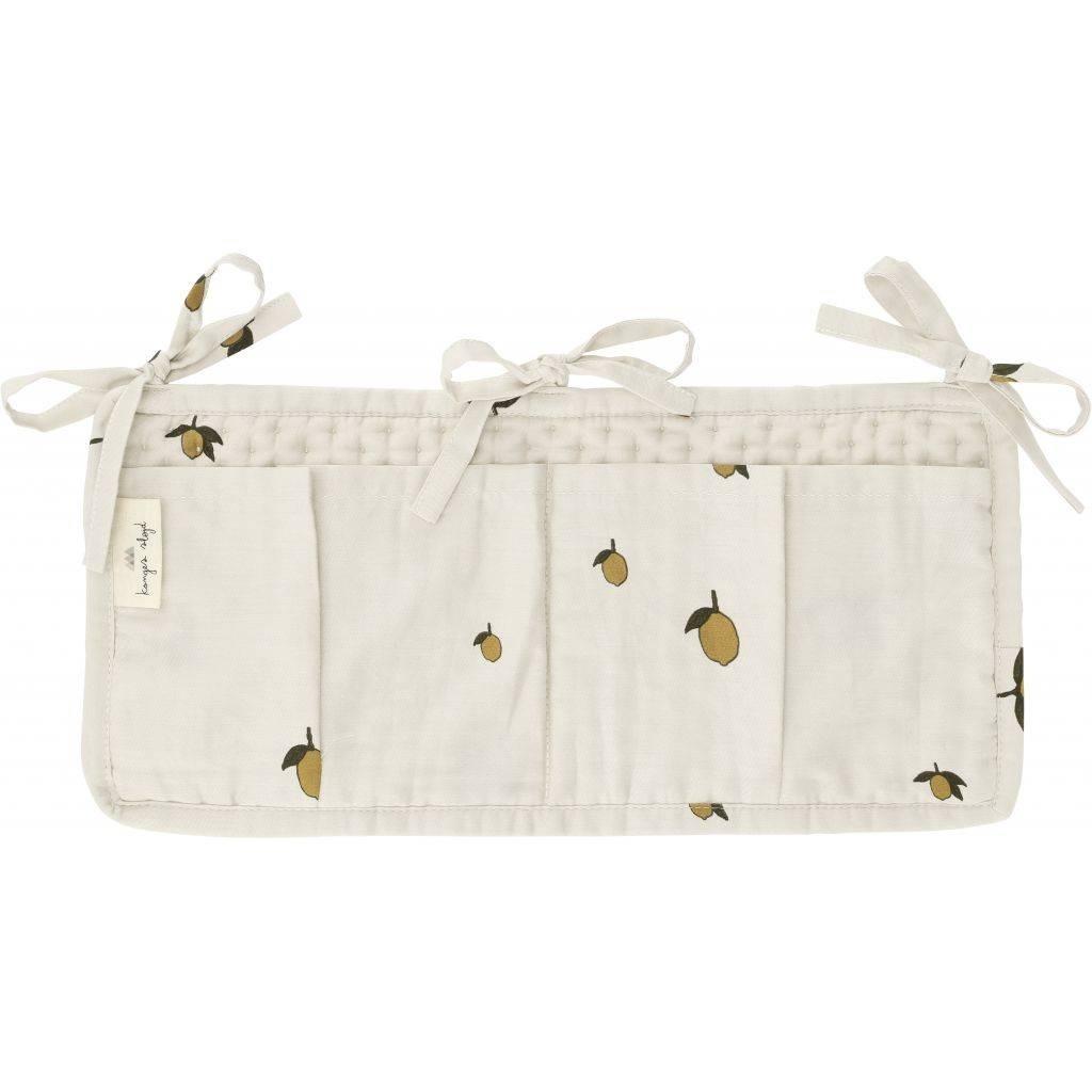 quilted bed pocket - lemon-1