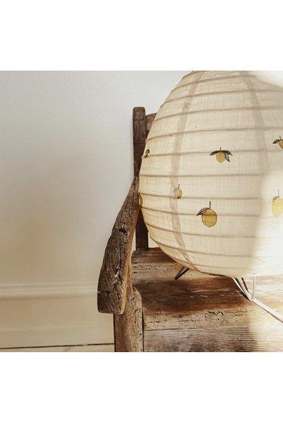 tafellamp katoen met citroenprint