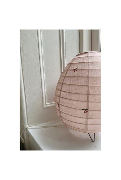 tafellamp katoen met kersenprint  op licht roze + gratis swaddle