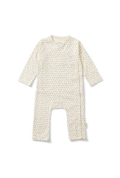 new born onesie tiny clover beige