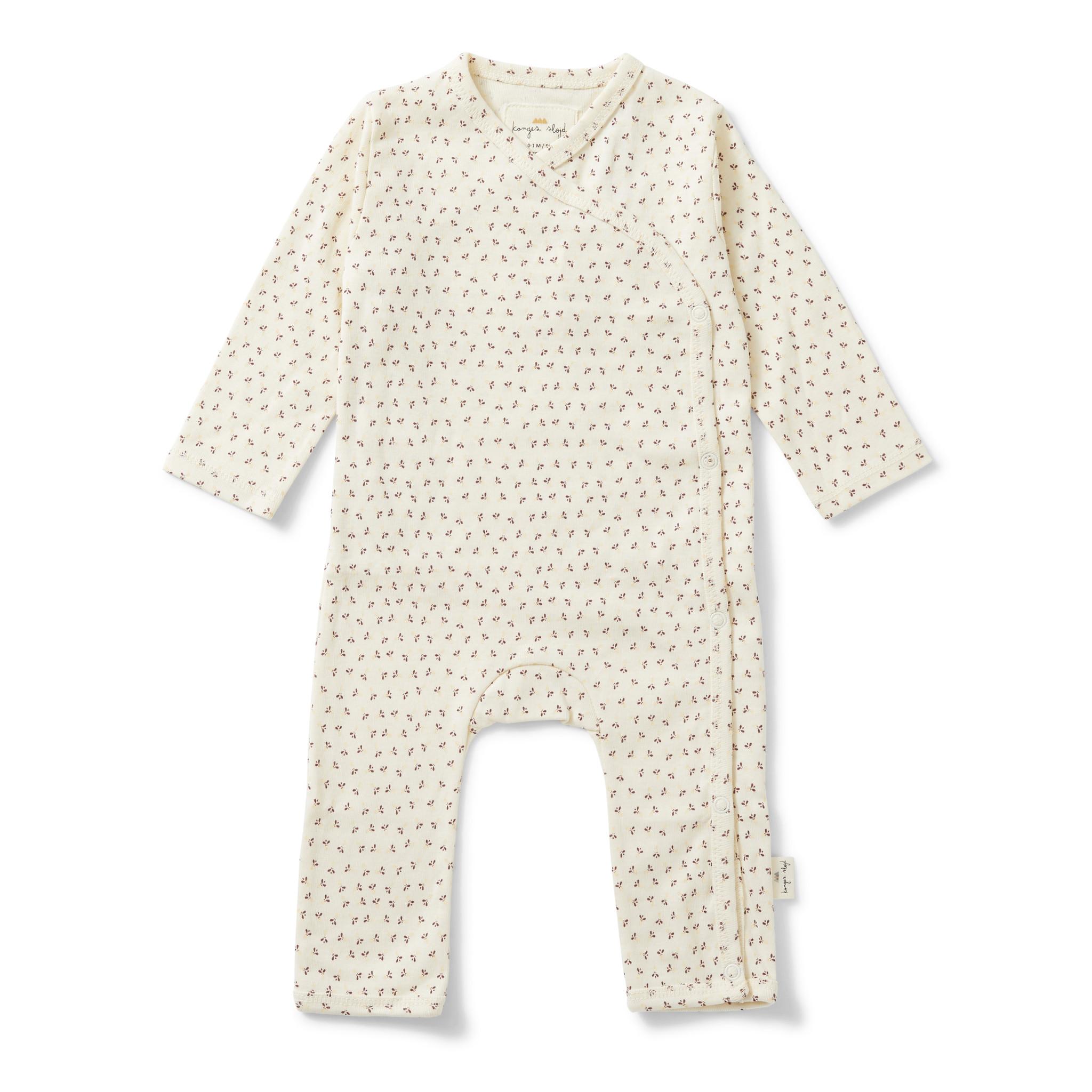 new born onesie tiny clover beige-1
