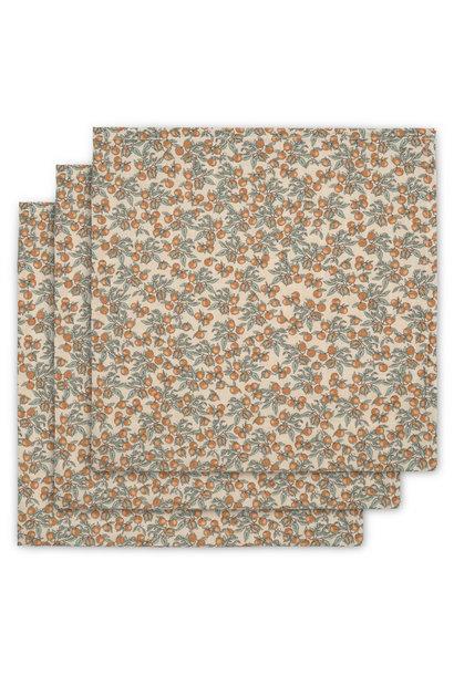 swaddles/hydrofiele doekjes set van 3 - orangery beige