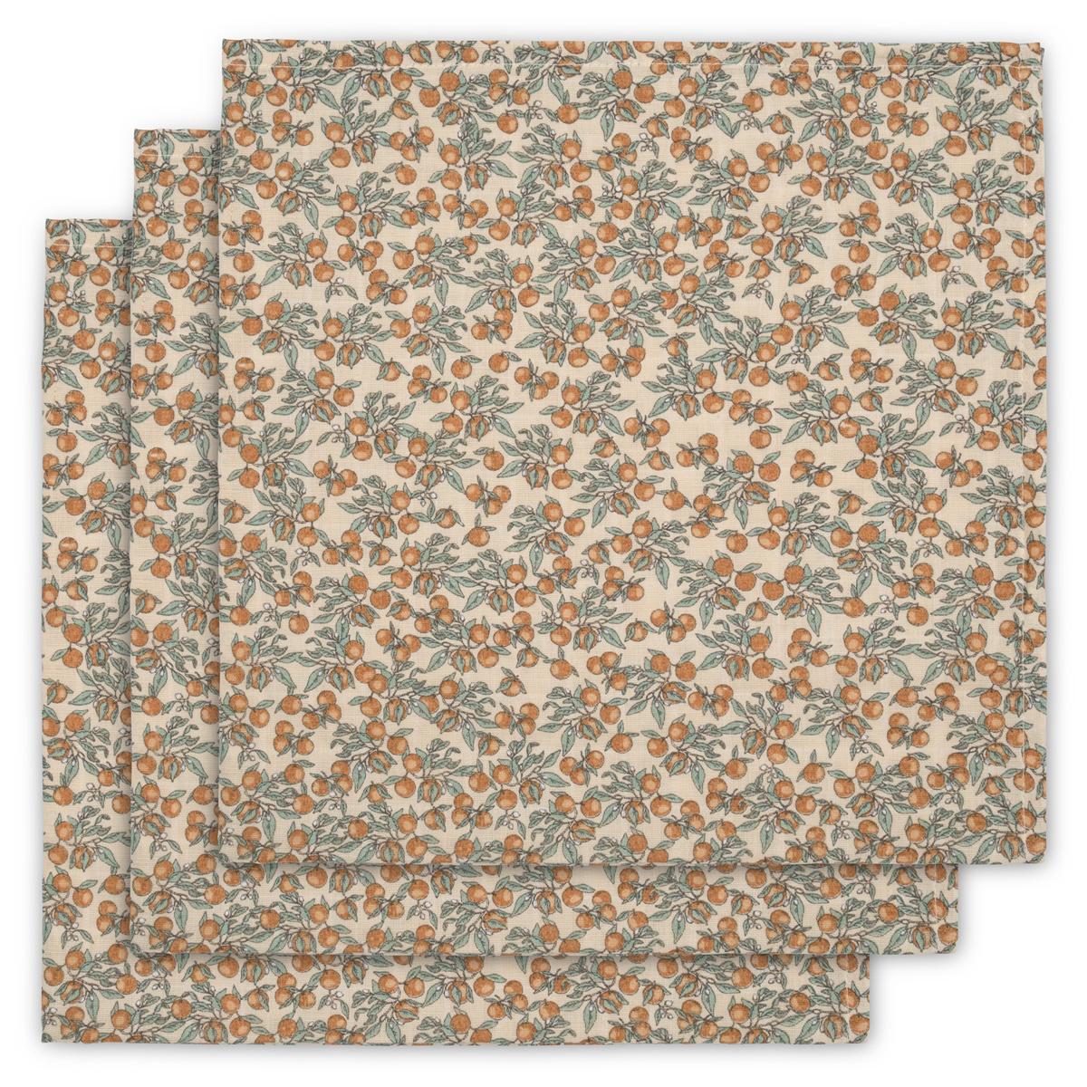 swaddles/hydrofiele doekjes set van 3 - orangery beige-1