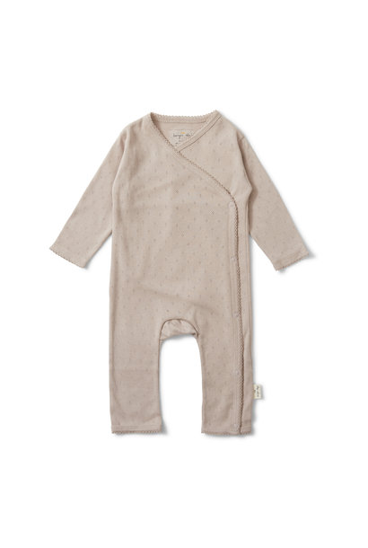newborn  minnie onesie - rose grey
